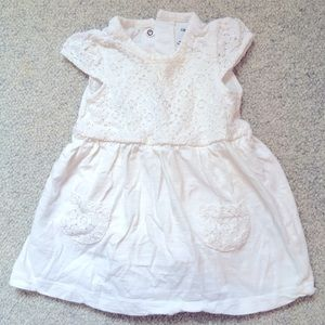 Gap Cream Crocheted Baby Dress: 6 to 12 mo size